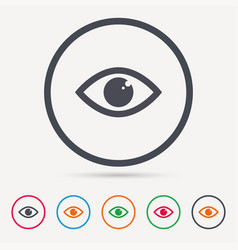 eye icon eyeball vision sign vector image