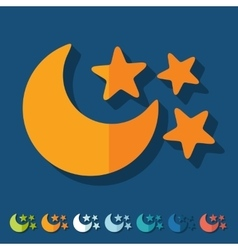 Flat design full moon vector image