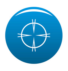 Focal target icon blue vector