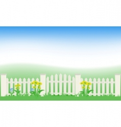 grass and fence vector image vector image