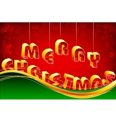 Hanging Merry Christmas vector image vector image