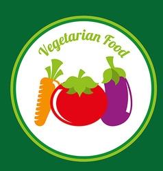 healthy vegetarian food design vector image vector image