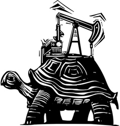 Oil Well Turtle vector image vector image