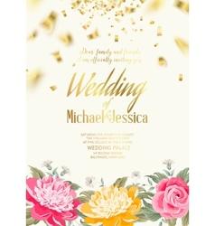 Romantic invitation card vector image