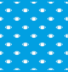rugby ball pattern seamless blue vector image vector image