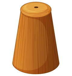 Salt shaker made of wood vector