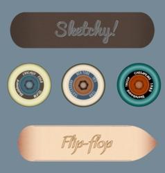 skateboard design elements vector image