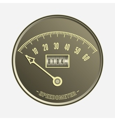 Speedometer in retro style - vector