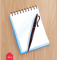 top view of notepad vector image