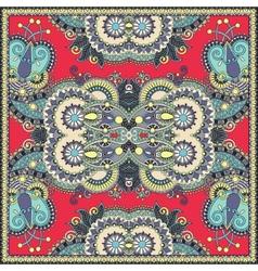Traditional ornamental floral paisley bandanna vector