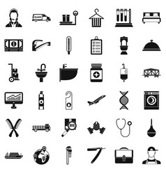 Work icons set simple style vector