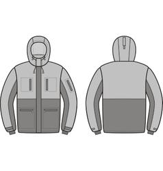 Work jacket vector