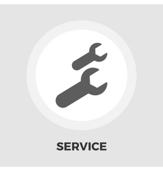 Wrench icon flat vector