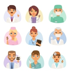 Doctors spetialists set vector image