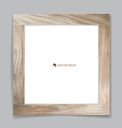 Picture wood frame vector