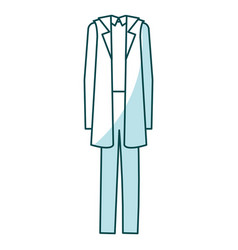 Doctor suit isolated icon vector