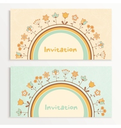 Baby shower cards vector image