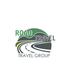 Icon for road travel or tourism group vector