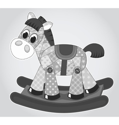 Old rocking horse vector