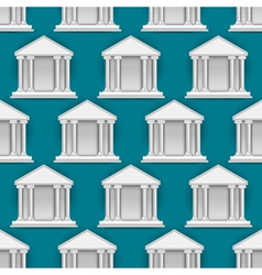 seamless pattern of buildings banks vector image