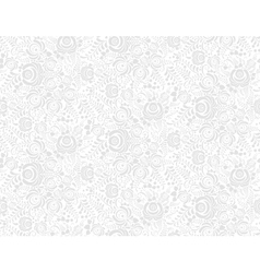 Grey floral textile seamless pattern in gzhel vector