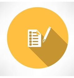 sheet test icon vector image
