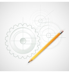 Background Drawing with Pencil vector image