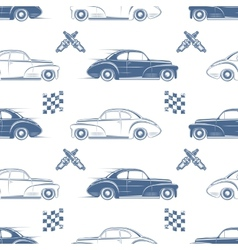 Vintage seamless pattern with cars vector