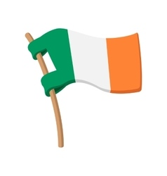 Flag of ireland cartoon icon vector