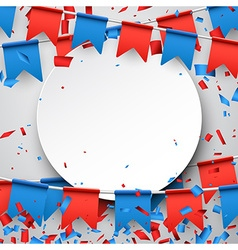 Round background with flags vector