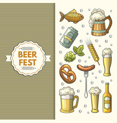 a set of oktoberfest icons vector image