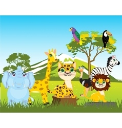 Animal world africas vector image