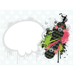 Background with skate vector image