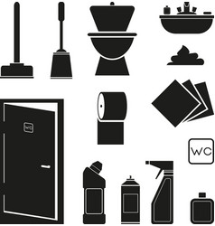 bathroom icon vector image vector image
