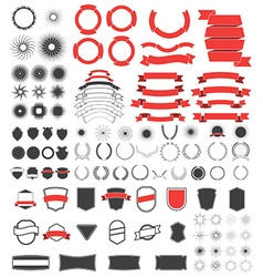 Big pack of vintage design elements vector image vector image