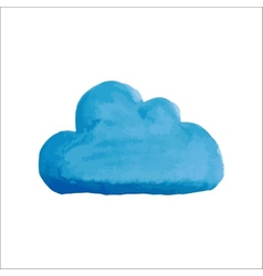 Blue water color cloud vector