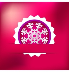 Christmas snowflake on red purple eps8 vector