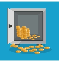 Coins businnes and financial design vector