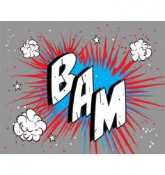 Comic book bam vector