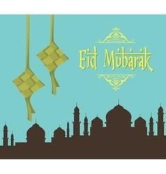 Eid mubarak ramadhan moslem islam day vector