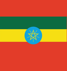 Ethiopia flag for independence day and vector