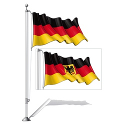 Flag pole germany vector