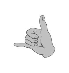 Gesture surfing icon black monochrome style vector