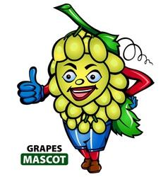 Grapes Mascot vector image vector image