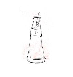 Hand drawn graphic kitchen glassware vector
