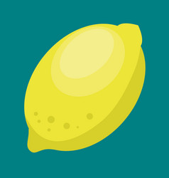 lemon fresh and healthy fruit vector image vector image