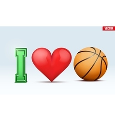 Love basketball inscription vector image vector image