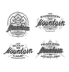 Mountain emblems for t shirt vector