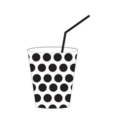 paper cup icon vector image vector image