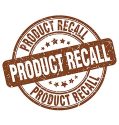 product recall brown grunge round vintage rubber vector image vector image